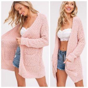 ❗️LAST❗️Softest Ever Chunky Knit Cardigan in Blush
